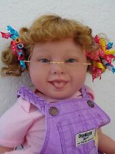 "Reborn 22"" Toddler Girl Doll ""Care Bear Chrissy""-Down Syndrome Tribute"