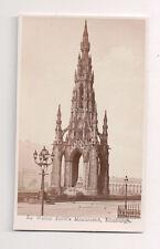 Vintage CDV Sir Walter Scott Victorian Gothic Monument Edinburgh Scotland