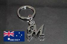 Letter M Name Initial Personalised Nickel Plated Metal Keyring Fob Bag Charm