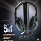 5 in 1 Wireless Headphone Earphone Cordless Headset for MP3 PC Stereo TV FM iPod