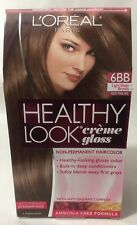 L'Oreal Healthy Look Creme Gloss Hair Color Light Beige Brown Iced Praline #6BB.
