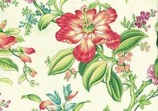 Braemore Fabric Tone on Tone Striped Floral  Cotton Drapery Upholstery