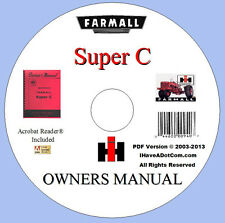 Farmall SUPER C Tractor Owners Manual