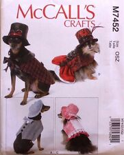 DOG CLOTHES COAT COSTUME McCall's Pattern 7452 NEW S-XXL