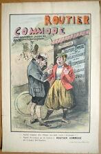 Affiche d'intérieur. Guide Routier Commode. Cyclisme Automobile. 1896