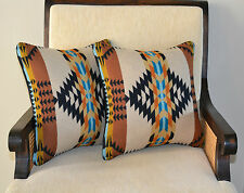 Pillow Covers Shams Southwestern home decor handcrafted of Pendleton Wool fabric