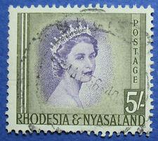 1954 RHODESIA AND NYASALAND 5S SCOTT# 153 S.G.# 13 USED                 CS09543