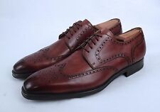 NEW!! Magnanni Wingtip Oxford- Brown- Size 11 M/ Labeled 11.5 M $350  (B1)