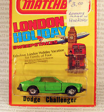 LONDON HOLIDAY NO TAMPO ERROR DODGE CHALLENGER LESNEY SUPERFAST 1981 MATCHBOX