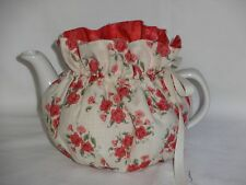 2 Cup  Pretty Red Floral Tea Pot Cozy A29