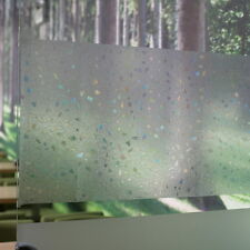Home Frosted Glass Privacy Geometric Window Static Cling DIY Self Adhesive Film