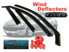 PEUGEOT 206 1998-2006 HATCHBACK Wind deflectors 4 pcs. HEKO (26113)