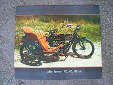 Altes Blechschild Oldtimer Motorrad Gespann Adler Seitenwagen gebraucht  used