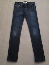 Girls Abercrombie & Fitch Denim Dark Wash Skinny Blue Jeans Stretch sz 14