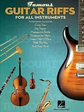Famous Guitar Riffs for All Instruments, Hal Leonard Corp., Good Book