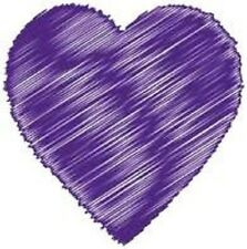 30 Custom Purple Artistic Heart Personalized Address Labels