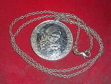 """Vintage 1974 Sterling MOTHER'S DAY Pendant+New 18""""Silver 925 Chain Link Necklace"""