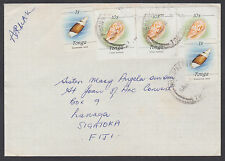 Tonga Sc 563 (2), 686 (3) on 1988 Commercial Air Mail Cover to Fiji