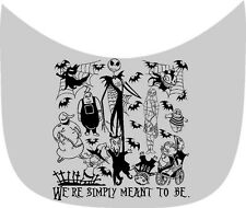 "NIGHTMARE BEFORE CHRISTMAS ""WE'RE SIMPLY MEANT TO BE"" CAR DECAL VINYL GRAPHIC"