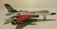 Die Cast Metal USAF F-16 Jet Aircraft A144 Red White Blue airplane