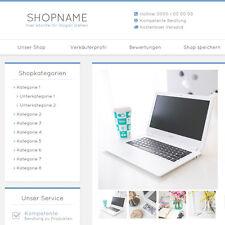 """eBay Auktionsvorlage """"Miral"""" Blau Responsive Design HTML Template Vorlage"""