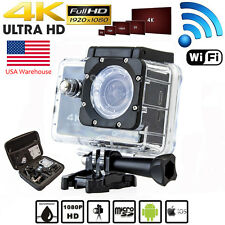 Sports DV Video Action Camera Camcorders Waterproof 4K HD 1080P + Remote Control