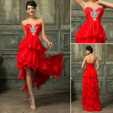 Bead Short High low Layer Masquerade Evening Formal Prom Party Ball Gown Dresses
