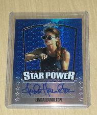 2015 Leaf Pop Century autograph Star Power BLUE parallel Linda Hamilton /20