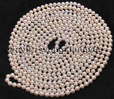 """Super long 100"""" 7-8mm Real Natural White Akoya Cultured Pearl Necklace"""