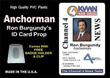 ANCHORMAN (Ron Burgundy's) ID Badge / Card Prop - PVC Plastic ID Card - NEWS ID