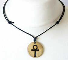 Ankh Key of the Nile Breath of Life Necklace Egyptian Jewellery Wood Crux Ansata