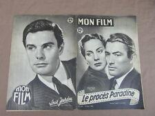 REVUE CINEMA MON FILM / LE PROCES PARADINE Gregory PECK Alida VALLI L. JOURDAN