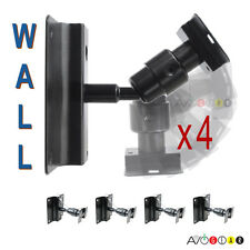 Four (4) Universal Speaker Wall Mount Brackets Swivel Ball (HDL-002, NEW)