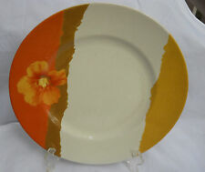 """222 FIFTH AMBER DINNER PLATE S 10 3/4"""" POPPY BLOOMINGDALES AUTUMN YELLOW ORANGE"""
