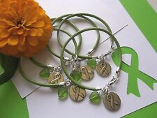 5  LYMPHOMA/KIDNEY/LIVER CANCER /LYME DISEASE AWARENESS LEATHER BRACELETS