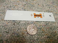 Herald King decals HO Hanson Inc Vancouver BC   ZZ331