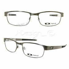 Oakley METAL PLATE OX5038-0655 Brushed Chrome Titanium Eyeglasses New Authentic