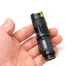 Ultrafire CREE LED Q5 Flashlight 7W 300LM Torch Adjustable Focus Zoom Light Lamp