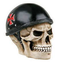 German Biker Iron Cross Skull Bust Figurine.Custom Shift Knob.Key. DIY