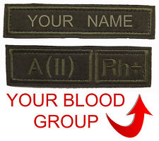 Russian military Patches VKBO Velcro camouflage Your name and your blood type