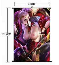 Hot Anime Suicide Squad Batman Harley Quinn Joker Home Decor Poster Wall Scroll+