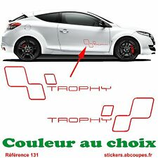 Kit Stickers Trophy - Bas de caisse Clio Rs GT Megane Decals Renault Sport - 131