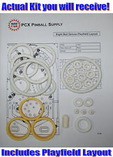 1981 Bally Eight Ball Deluxe Pinball Machine Rubber Ring Kit