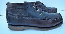 Timberland Vintage Men Brown Leather Ankle Desert Boots Vibram UK7 EU41 US7.5W