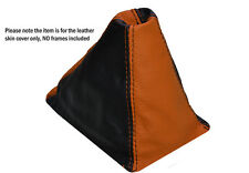 BLACK ORANGE LEATHER SKIN GEAR GAITER FITS HONDA CIVIC EG6 EG9 EJ1 1992-1995