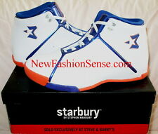 Brand New Starbury One White Athletic Orange High Top Basketball Shoes Size 6.5