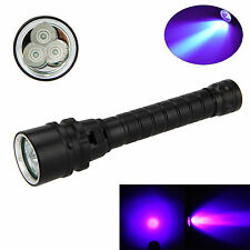 10W 395-400nm 3x XPE UV  LEDTauchlampe Taschenlampe Scuba Diving Flashlight