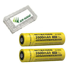 2x Nitecore NL1835 3500mAh 18650 Rechargeable Li Ion Battery w/ Battery Case