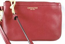 COACH LEGACY SMOOTH DEEP PORT LEATHER SMALL WRISTLET 48179