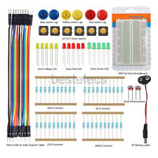 9V Battery Cable LED Resistor Switch Breadboard Dupont wire component Kits